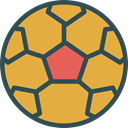 sports, Team Sport, Sports And Competition, Game, Football, soccer, equipment Goldenrod icon