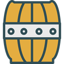 Barrels, Farme, Food And Restaurant, tool, barrel, Farming, Tools And Utensils Goldenrod icon