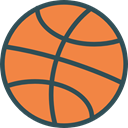 Basketball, team, equipment, sports, Sport Team, Sports And Competition Coral icon