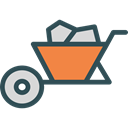Cart, trolley, Construction, Wheelbarrow, gardening, Tools And Utensils, Construction And Tools, Farming And Gardening Black icon