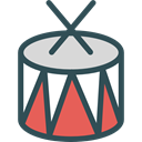 music, Drum, musical instrument, Percussion Instrument, Orchestra, Drumsticks, Music And Multimedia DarkSlateGray icon