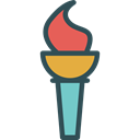 Flame, sports, torch, olympic, Sports And Competition, Games, fire Black icon
