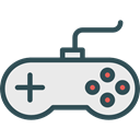Multimedia, joystick, gaming, gamer, game controller, gamepad, technology, electronic, video game Lavender icon