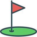 Ball, Golf, sports, birdie, leisure, Sports And Competition Black icon