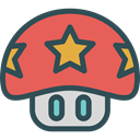 leisure, videogame, gaming, Mushroom, playing, video game, Game, play IndianRed icon