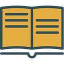 Book, Books, Library, education, reading, study, Literature, open book Goldenrod icon