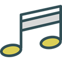 song, musical note, Quaver, Music And Multimedia, music, interface, music player Black icon