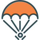 Sports And Competition, Parachutist, Paraglider, Paragliding, Gliding, sports, Parachute DarkSlateGray icon