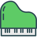 Keyboard, music, piano, Keys, musical instrument, Orchestra, Music And Multimedia MediumSeaGreen icon
