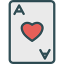 poker, Black jack, Casino, gambling, entertainment, Ace Of Hearts Lavender icon