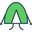 Holidays, woods, rural, nature, Camping, Forest, Tent MediumSeaGreen icon