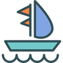 sailing, transportation, Boat, transport, sail, Sailboat, Boats DarkSlateGray icon
