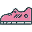 Running, sports, shoe, fitness, fashion, footwear Black icon