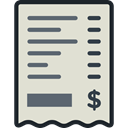 Business, Bill, commerce, Ticket, payment, receipt, invoice, Business And Finance Gainsboro icon