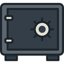 security, Business, Bank, savings, Safebox, banking, Tools And Utensils DarkSlateGray icon