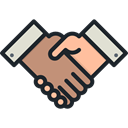 Business, Agreement, Handshake, Hands And Gestures, Gestures, Shake Hands, Cooperation Black icon