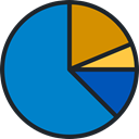 Seo And Web, Business, Pie chart, finances, graphical, Stats, statistics, marketing DodgerBlue icon