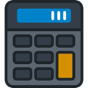calculator, education, technology, maths, Calculating, Technological DarkSlateGray icon