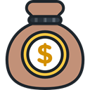 Business, Money, Dollar Symbol, Business And Finance, Currency, Bank, banking, money bag RosyBrown icon