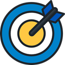 Arrow, sport, Target, objective, Arrows, Archery, weapons, archer, Seo And Web DarkSlateGray icon