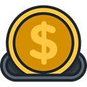 Business And Finance, Business, Money, coin, Coins, Dollar, investment, finances DarkSlateGray icon