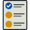 tick, Tasks, checking, Files And Folders, list, interface Gainsboro icon