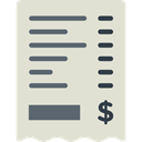 invoice, Business And Finance, commerce, Ticket, payment, receipt, Business, Bill Gainsboro icon