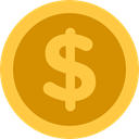 Cash, Dollar, Currency, Business And Finance, Business, Money, coin SandyBrown icon