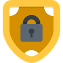 Antivirus, shield, ui, defense, secure, security SandyBrown icon