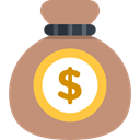 money bag, Dollar Symbol, Business And Finance, Money, Currency, Bank, banking, Business RosyBrown icon