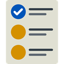 Tasks, checking, Files And Folders, list, interface, tick Gainsboro icon
