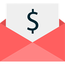 Dollar Symbol, Seo And Web, Dollar, payment, dollar bill, payment method, envelope, Business, Money WhiteSmoke icon