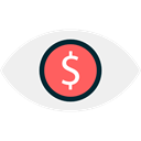 greed, banking, Dollar Symbol, Seo And Web, Business, Eye, Dollar, Bank WhiteSmoke icon