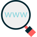 search, magnifying glass, Seo And Web, zoom, detective, Loupe, Tools And Utensils WhiteSmoke icon