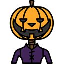 fear, Avatar, halloween, pumpkin, horror, Terror, spooky, scary Black icon