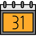 Calendar, date, event, halloween, October, Time And Date Goldenrod icon
