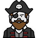 Avatar, halloween, horror, pirate, Terror, spooky, scary, fear Icon