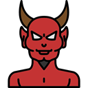 Avatar, Devil, halloween, horror, Terror, spooky, scary, fear Black icon