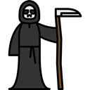 halloween, horror, Terror, spooky, death, scary, fear Black icon