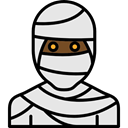 halloween, mummy, horror, Terror, Avatar, spooky, scary, fear Gainsboro icon