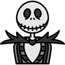 Skeleton, Terror, spooky, scary, fear, Avatar, halloween, horror Black icon