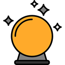 miscellaneous, Ball, magic, halloween, future, fair, Soothsaying, Magic Ball Goldenrod icon