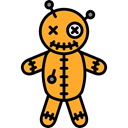 halloween, horror, Terror, spooky, scary, fear, Voodoo Doll Black icon