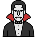Dracula, horror, Terror, spooky, scary, fear, Avatar, halloween DarkSlateGray icon