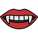 fear, Terror, lips, spooky, scary, vampire, horror, mouth, Teeth, halloween Black icon