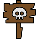 Terror, spooky, scary, fear, sign, halloween, horror SaddleBrown icon