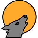 wildlife, Animal Kingdom, zoo, Animals, mammal, wolf Goldenrod icon