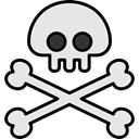 miscellaneous, halloween, poison, pirate, Skull And Bones, Jolly Roger Gainsboro icon