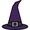 Terror, witch, spooky, scary, halloween, horror, fear Black icon