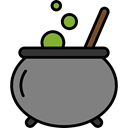 food, Cook, halloween, pot, Cauldron Gray icon